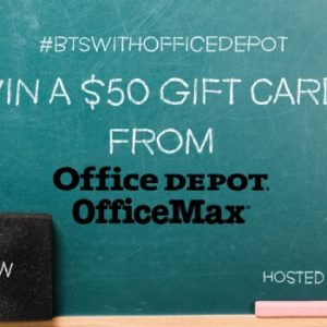 office depot and office max back to school giveaway