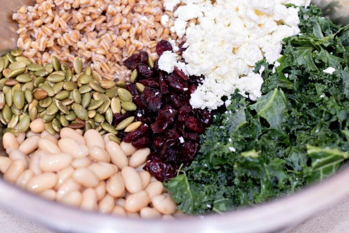 white bean and feta salad