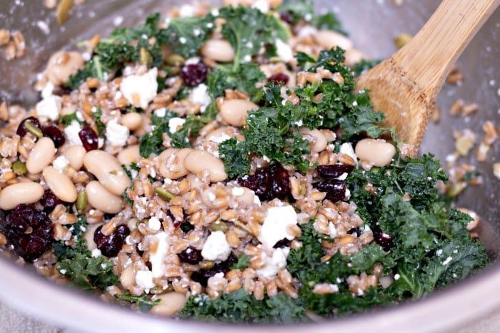 white bean and farro salad