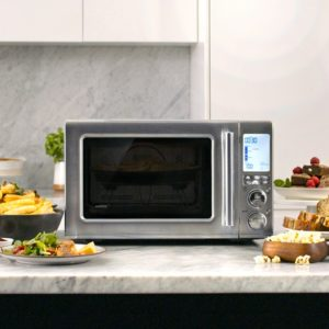 The Breville Combi Wave microwave on kitchen counter