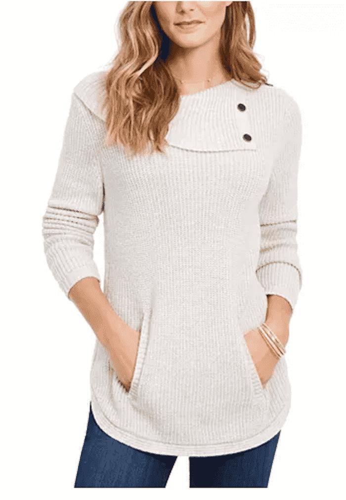 envelope neck sweater
