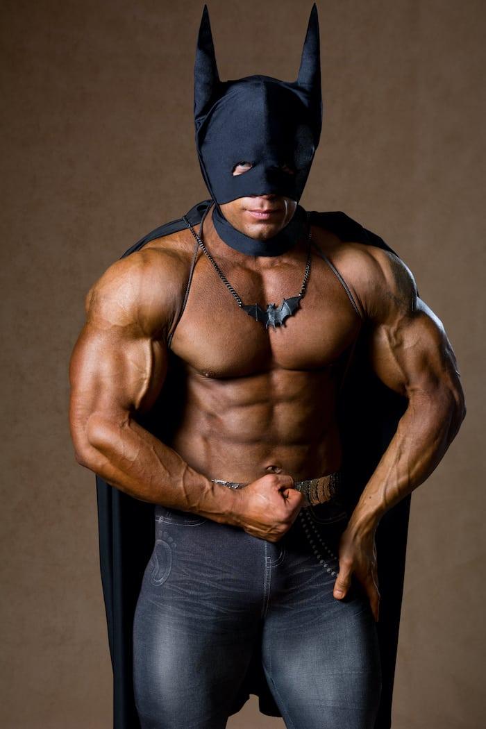 holy batman muscular shirtless probiotic