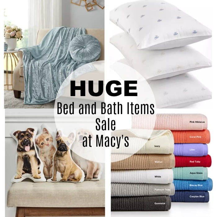 bed and bath sale at Macy's