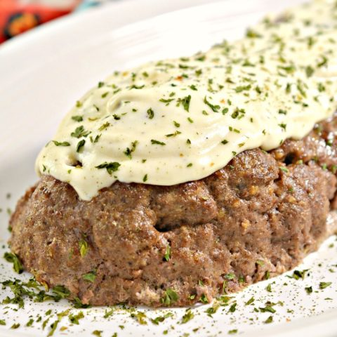 Keto Philly Cheesesteak Stuffed Meatloaf