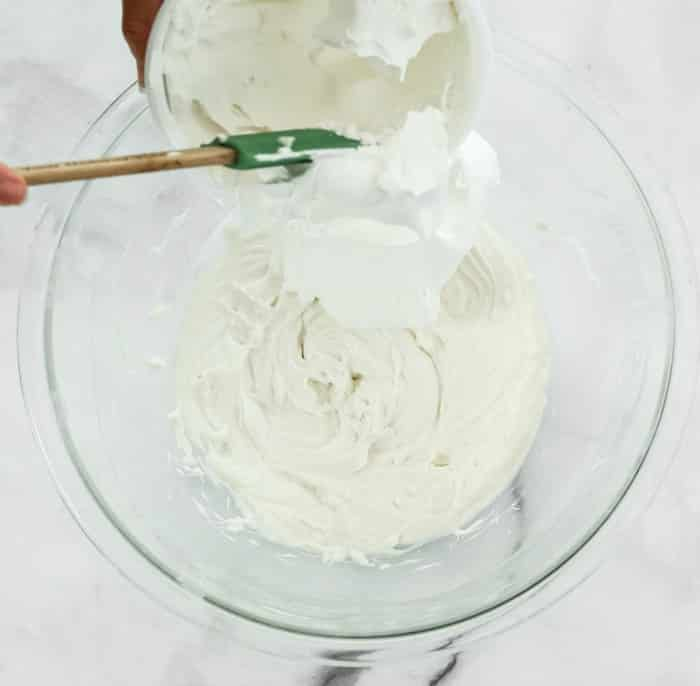 add cool whip to cream cheese