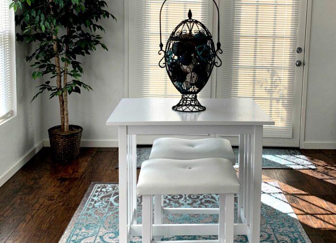 3 piece pub table chair set