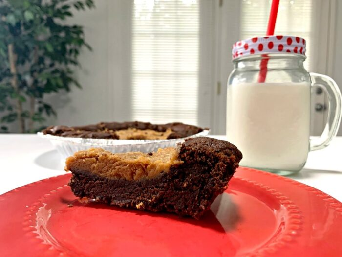 chocolate peanut butter cookie pie