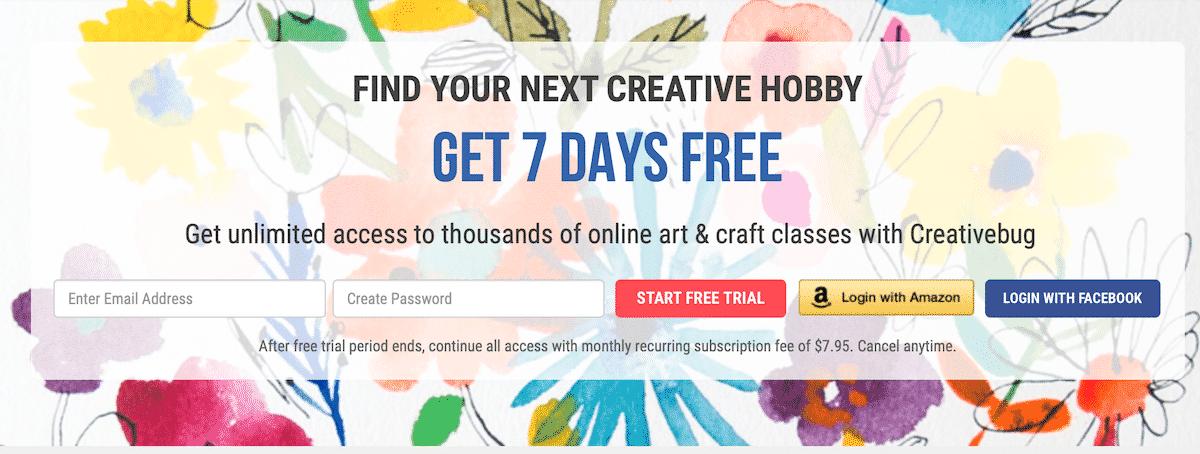 creativebug free trial