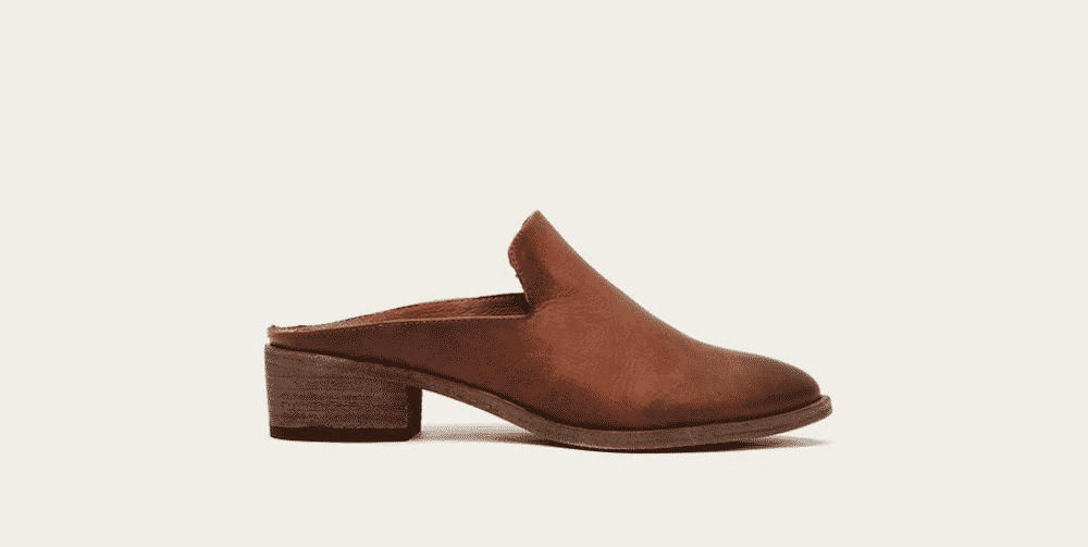 leather mules from the frye company